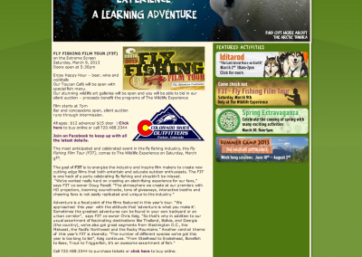 The Wildlife Experience Web Content
