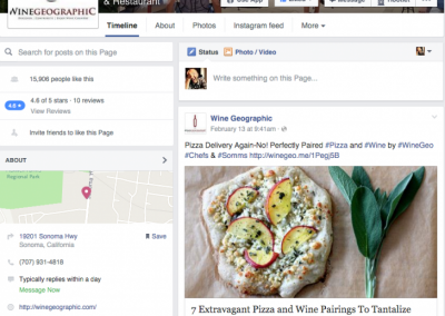 Wine Geographic Social Media Content