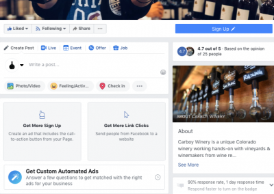 Carboy Winery Social Media Content