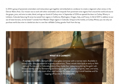 Carboy Winery Web Content